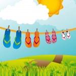 Flip flops — Stock Vector #10245101