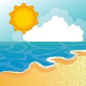 Beach vector — Stock Vector