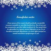 Płatki śniegu. — Wektor stockowy