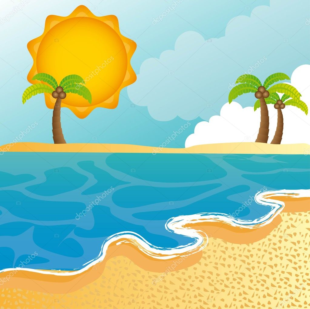 sea bed beach vector - photo #35