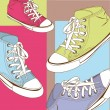 Cute sneakers — Stock Vector