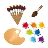 Paint brushes — Stock Vector