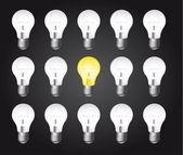 Glödlampor — Stockvektor