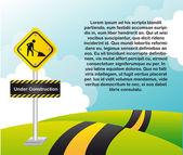 Construtction sign — Stock Vector