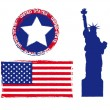 united states — Vector de stock #10562154