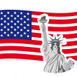 Statue of liberty — Vector de stock #10562302