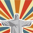 Christ redeemer — Stock Vector