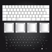 Blank keyboard — Stock Vector