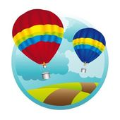 Hot air ballons — Stock Vector