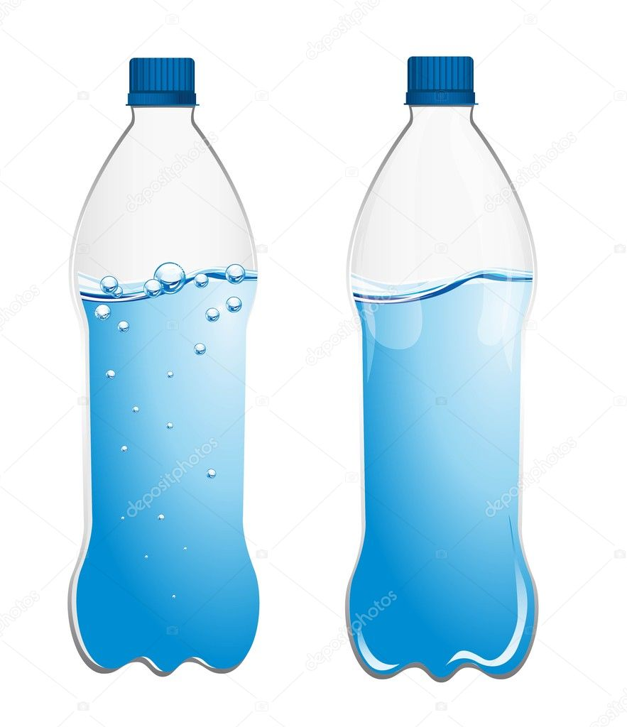 Cartoon plastic bottle