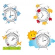 Clock season — Vector de stock