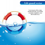 Постер, плакат: Life guard vector