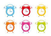 Cute clock alarm — Stock Vector