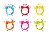 Lindo reloj alarma — Vector de stock