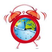 Reloj despertador — Vector de stock