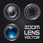Zoom lens vector — Stock Vector