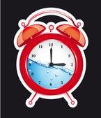 Uhr Wecker — Stockvektor