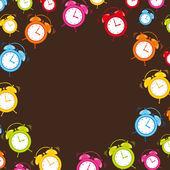 Lindo reloj — Vector de stock