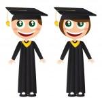 Graduates — Stock Vector