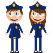 police cartoons — Vector de stock #7970811