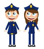 police cartoons — Stockvector