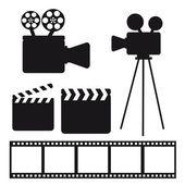 Elementos de cine — Vector de stock