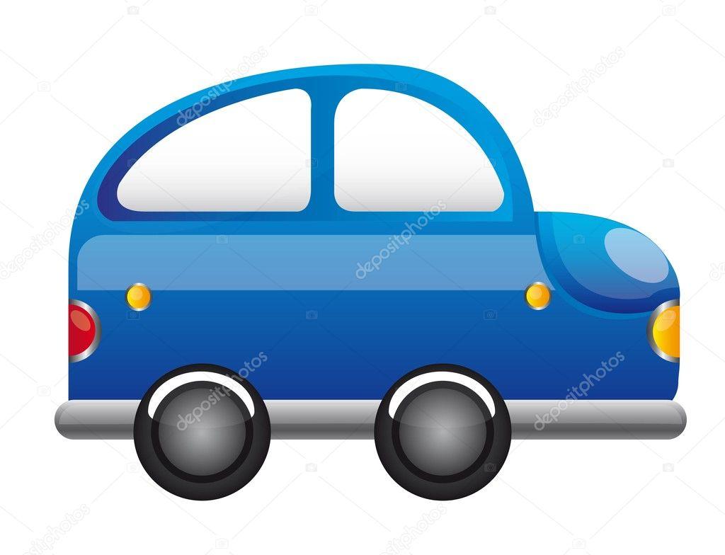 蓝色的车卡通 — 图库矢量图像08