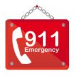 911 emergency - Stock Vector