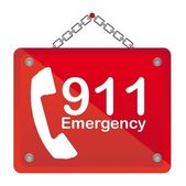911 emergency — Vecteur