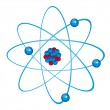 Stock Vector: Blue atom