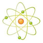 Green atom vector — Stock Vector