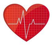 Herzfrequenz-vektor — Stockvektor