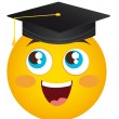 Stock Vector: Happy face graduate