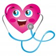 Royalty-Free Stock Vector Image: Heart and stethoscope