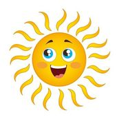 Dibujos animados de sol — Vector de stock