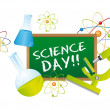 Stockvektor : Science day