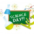 Stock Vector: Science day