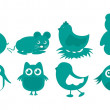 Animals icons — Stock Vector #8532859