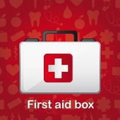 First aid box — Stock Vector
