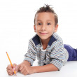 Child writting — Stock Photo