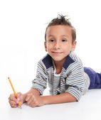 Child writting — Stock Photo