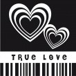 Stock Vector: True love