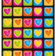 Heart colors — Stock Vector