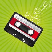 Retro cassette — Stock Vector