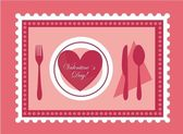 Valentines food — Stock Vector