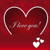 Ich liebe dich — Stockvektor