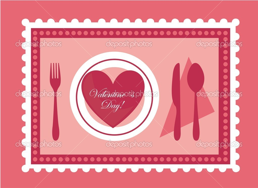 Valentines day heart on pink background — Stock Vector #8636975