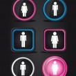 Men and women signs - Image vectorielle