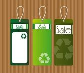 Recycle tags — Stock Vector