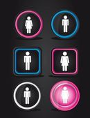 Men and women signs — Stockvector